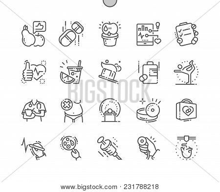 Health Well-crafted Pixel Perfect Vector Thin Line Icons 30 2x Grid For Web Graphics And Apps. Simpl