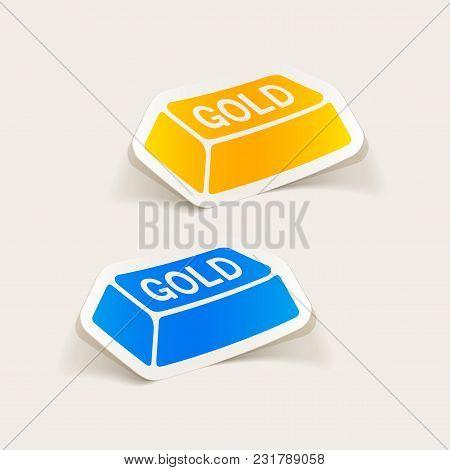 It Is A Realistic Design Element. Bullion Gold