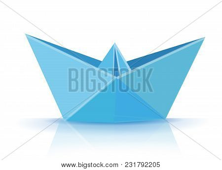 Origami. Origami Boat. Blue Origami Boat. Origami Paper Boat. Paper Ship. Origami Paper Ship. Blue O