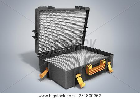 Open Tools Case 3d Render On Grey Background