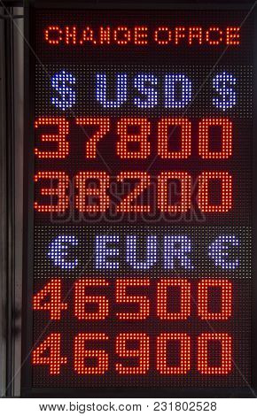Exchange Currency Rate Table For Dollar And Euro