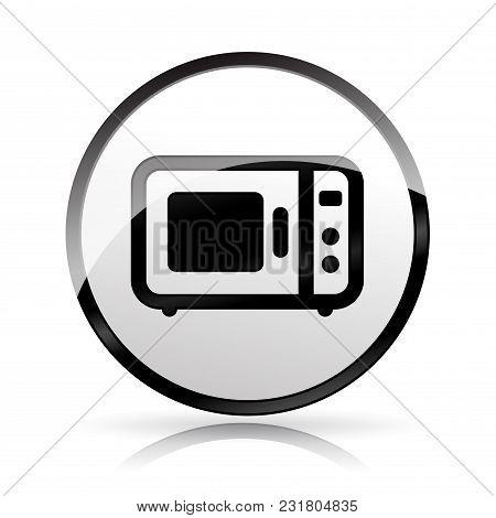 Illustration Of Oven Icon On White Background