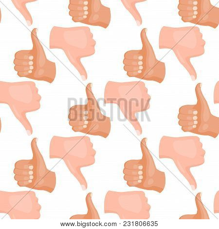 Hands Showing Deaf-mute Seamless Pattern Background Gestures Human Arm Hold Collection Communication