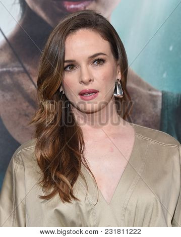 LOS ANGELES - MAR 12:  Danielle Panabaker arrives for the 'Tomb Raider' US Premiere on March 12, 2018 in Hollywood, CA