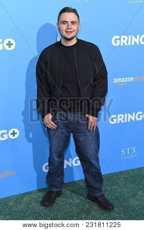 LOS ANGELES - MAR 06:  Prince Jackson arrives for the 'Gringo' World Premiere on March 6, 2018 in Los Angeles, CA