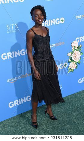 LOS ANGELES - MAR 06:  Lupita Nyong'o arrives for the 'Gringo' World Premiere on March 6, 2018 in Los Angeles, CA