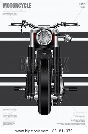 Poster Design Chopper Motorcycle Isolated Vector Illustration