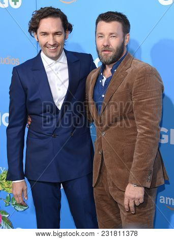 LOS ANGELES - MAR 06:  Nash Edgerton and Joel Edgerton arrives for the 'Gringo' World Premiere on March 6, 2018 in Los Angeles, CA
