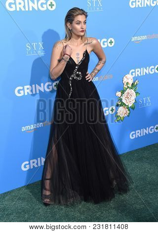 LOS ANGELES - MAR 06:  Paris Jackson arrives for the 'Gringo' World Premiere on March 6, 2018 in Los Angeles, CA