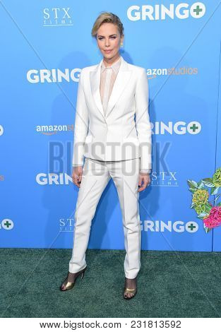 LOS ANGELES - MAR 06:  Charlize Theron arrives for the 'Gringo' World Premiere on March 6, 2018 in Los Angeles, CA