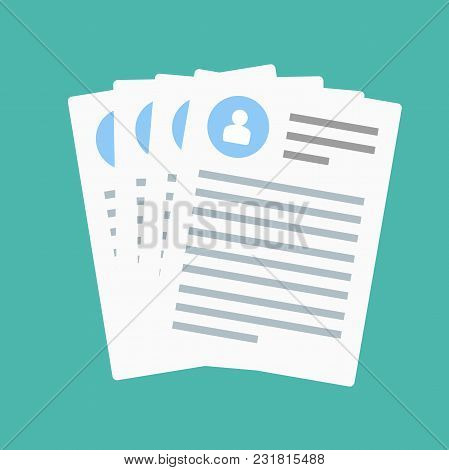 Claim Form. Flat Style Isolated On A Blue Background. Vector Illustration.