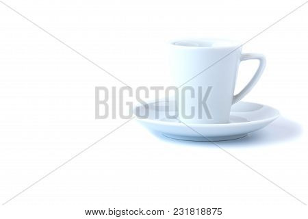 White Coffee Cup Isolate On White Background
