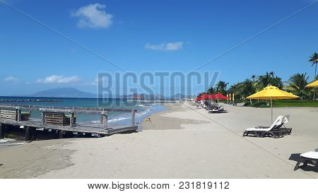 The Paradise Beach At The Small Antilles Island Nevis In The Carabbean Sea
