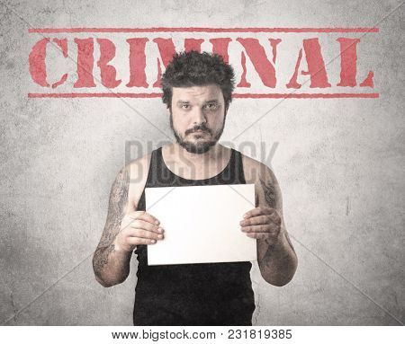 Caught gangster with criminal background.
