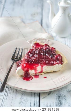 Tart With Cream Cheese And Cherries