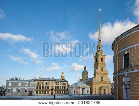 High Spire Of Peter And Paul Cathedral In St. Petersburg