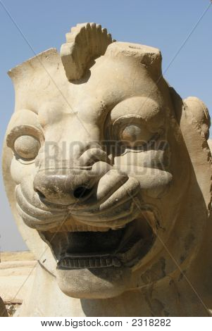 Lion Head, Persepolis, Iran