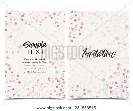 Vector Illustration Romantic Floral Background. Set Of Greeting Cards
