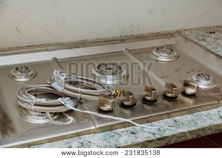 New House Installation Gas Stove Worktop Near The Hob