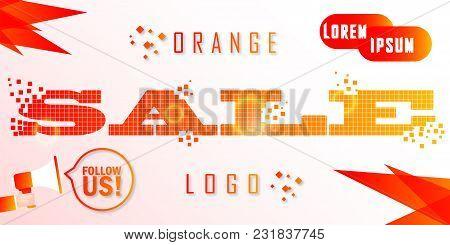Sale, This Weekend Special Offer Banner, Vector Illustration. Orange Logo