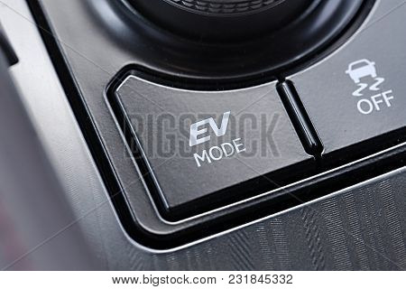 Electric Vehicle mode button of a hybrid car