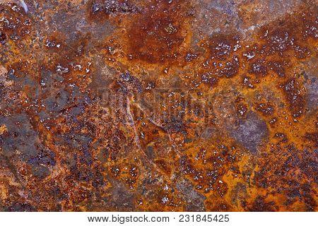 Rusty metal detailed texture closeup