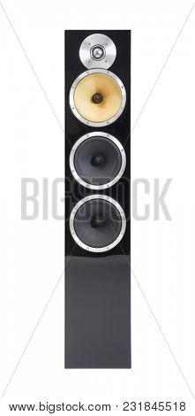 Hi-fi speakers in a room