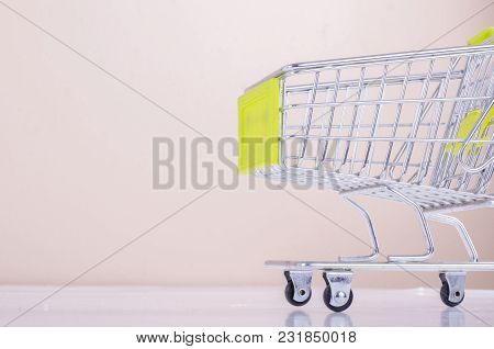 Image Of Close-up View Of Empty Shopping Trolley