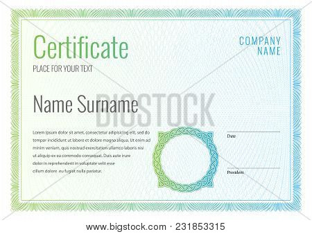 Certificate Template Vector Photo Free Trial Bigstock