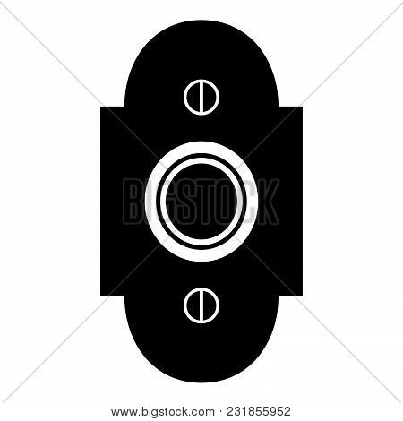 Doorbell Icon Black Color Vector Illustration Flat Style Simple Image