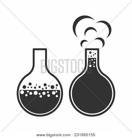Vector Image Of Bubbling Bulb Icons On White Isolated Background.