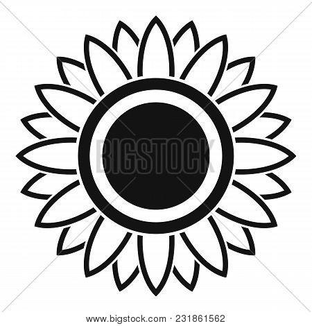 Bright Sunflower Icon. Simple Illustration Of Bright Sunflower Vector Icon For Web