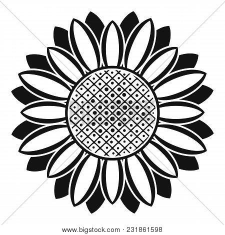 Circle Of Sunflower Icon. Simple Illustration Of Circle Of Sunflower Vector Icon For Web