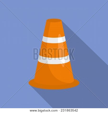 Caution Cone Icon. Flat Illustration Of Caution Cone Vector Icon For Web