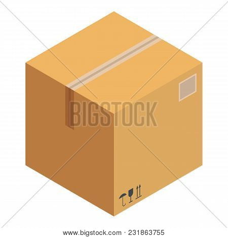 Received Box Icon. Isometric Illustration Of Received Box Vector Icon For Web