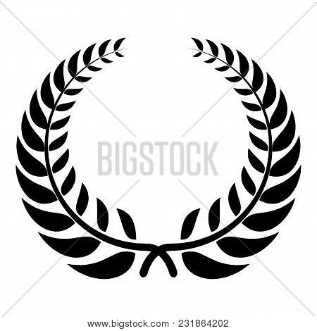 Victory Wreath Icon. Simple Illustration Of Victory Wreath Vector Icon For Web