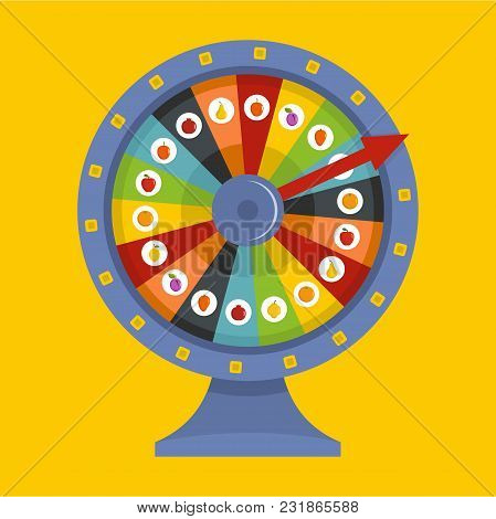 Fortune Wheel Icon. Flat Illustration Of Fortune Wheel Vector Icon For Web