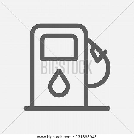 Petrol Station Icon Line Symbol. Isolated Vector Illustration Of Refueling Sign Concept For Your Web