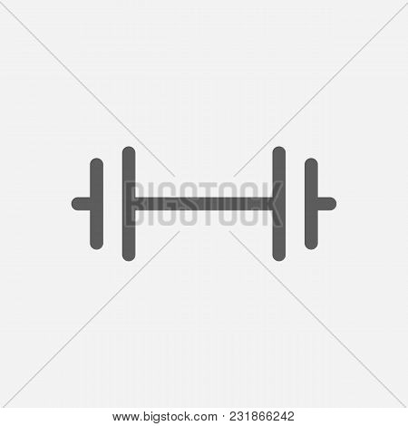Gym Icon Line Symbol. Isolated Vector Illustration Of Barbell Sign Concept For Your Web Site Mobile