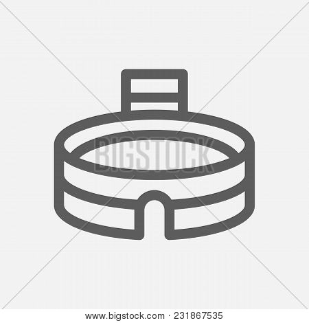 Stadium Icon Line Symbol. Isolated Vector Illustration Of Arena Sign Concept For Your Web Site Mobil