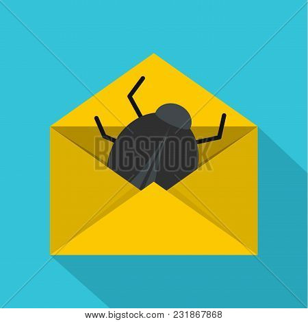 Post Virus Icon. Flat Illustration Of Post Virus Vector Icon For Web
