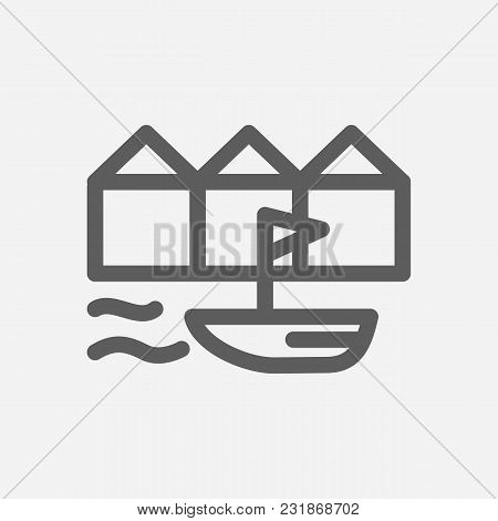 Denmark Icon Line Symbol. Isolated Vector Illustration Of Danish Sign Concept For Your Web Site Mobi