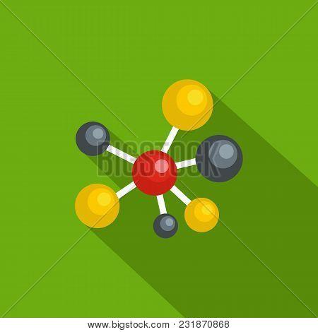 Atomic Lattice Icon. Flat Illustration Of Atomic Lattice Vector Icon For Web