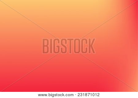 Vector Red, Orange Blurred Gradient Style Background. Abstract Smooth Colorful Illustration, Social