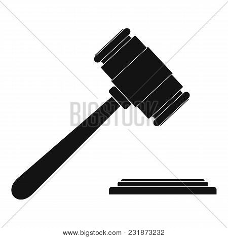 Auction Gavel Icon. Simple Illustration Of Auction Gavel Vector Icon For Web