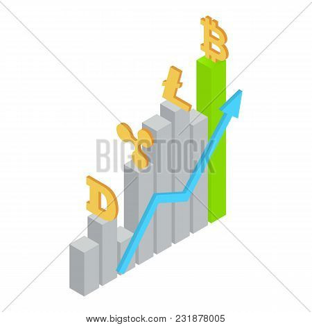 Raising Exchange Icon. Isometric Illustration Of Raising Exchange Vector Icon For Web