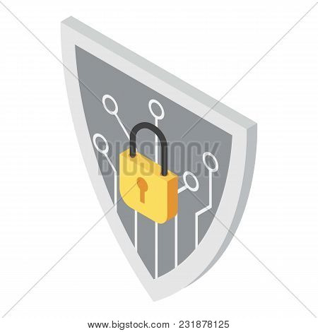 Protection Of Exchange Icon. Isometric Illustration Of Protection Of Exchange Vector Icon For Web