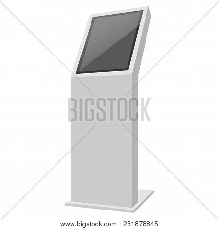 Payment Terminal Mockup. Realistic Illustration Of Payment Terminal Vector Mockup For Web