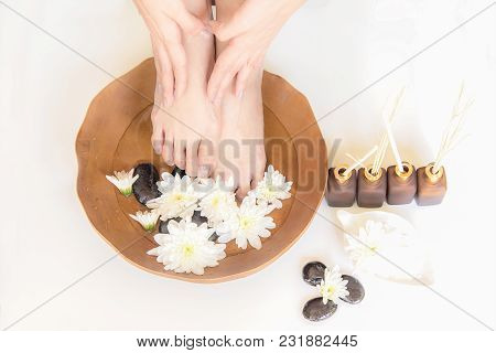 Spa Treatment And Product For Female Feet And Hand Spa, Relax And Health Care, Thailand. Healthy Con