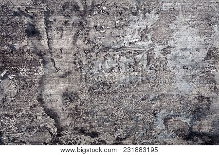 Black Gray And White Messy Wall Stucco Texture Background. Decorative Wall Paint.